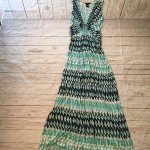Fun Abstract Print Maxi Dress
